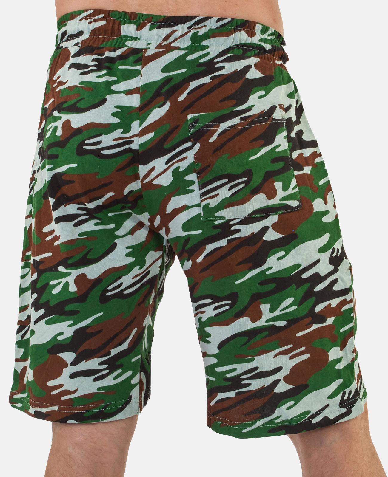 Камуфляжные армейские шорты с нашивкой Флот России - заказать в подарок