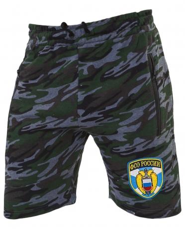 Камуфляжные милитари шорты с нашивкой ФСО