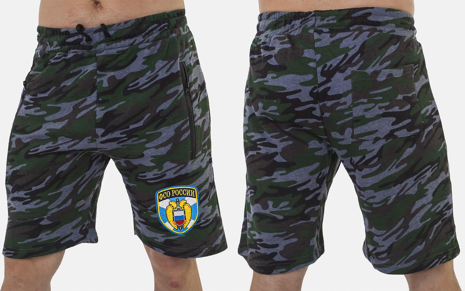 Камуфляжные милитари шорты с нашивкой ФСО - заказать выгодно