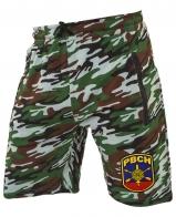 Камуфляжные милитари шорты с нашивкой РВСН