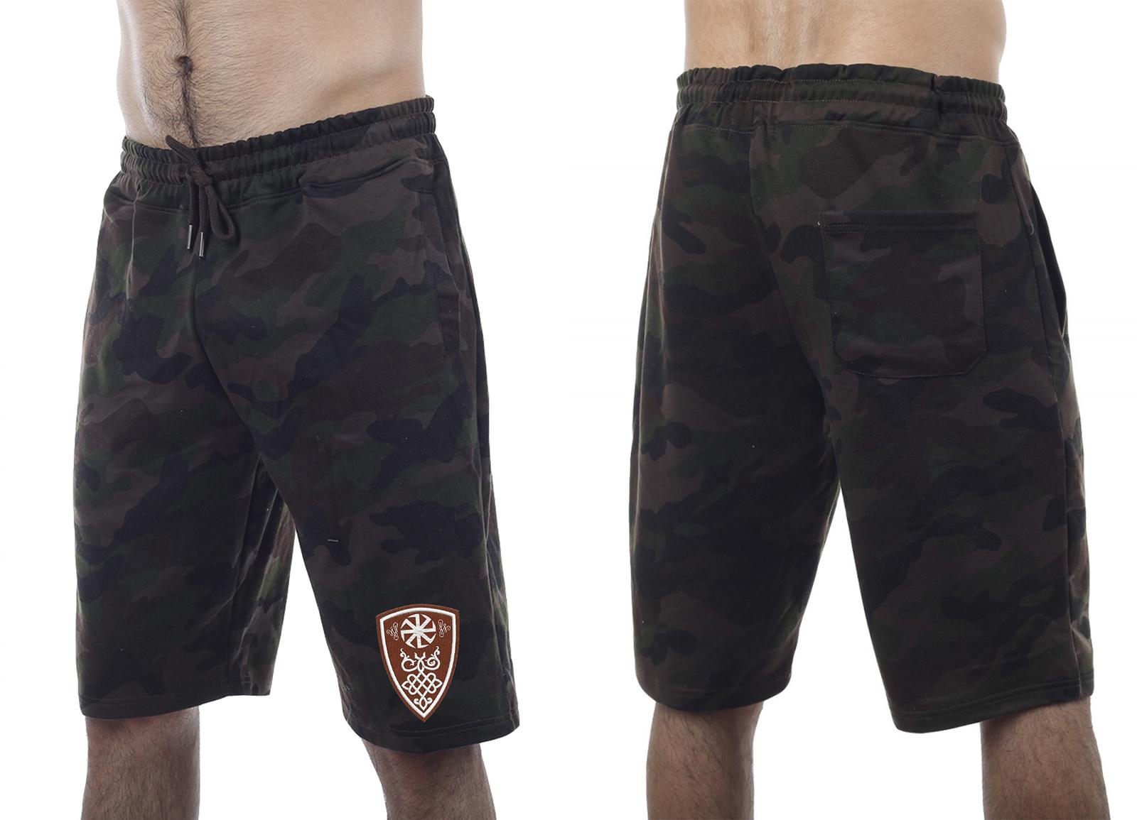 Камуфляжные мужские шорты по колено заказать в Военпро