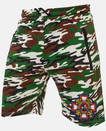 Купить камуфляжные мужские шорты с эмблемой Потомственный казак