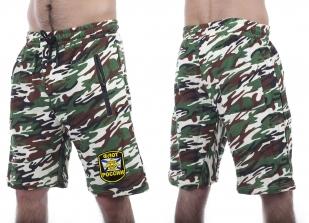 Камуфляжные мужские шорты с нашивкой Флот России - заказать в подарок