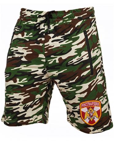 Камуфляжные мужские шорты с нашивкой Росгвардия