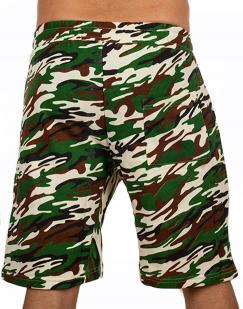 Камуфляжные мужские шорты с нашивкой Росгвардия - купить оптом