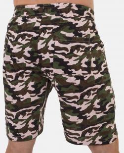 Камуфляжные мужские шорты с нашивкой Россия - заказать онлайн