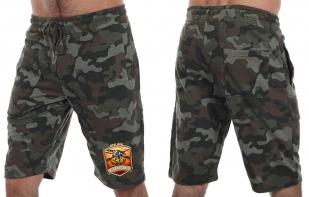 Камуфляжные мужские шорты с нашивкой Русская Охота - заказать в подарок