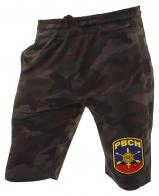 Камуфляжные мужские шорты с нашивкой РВСН