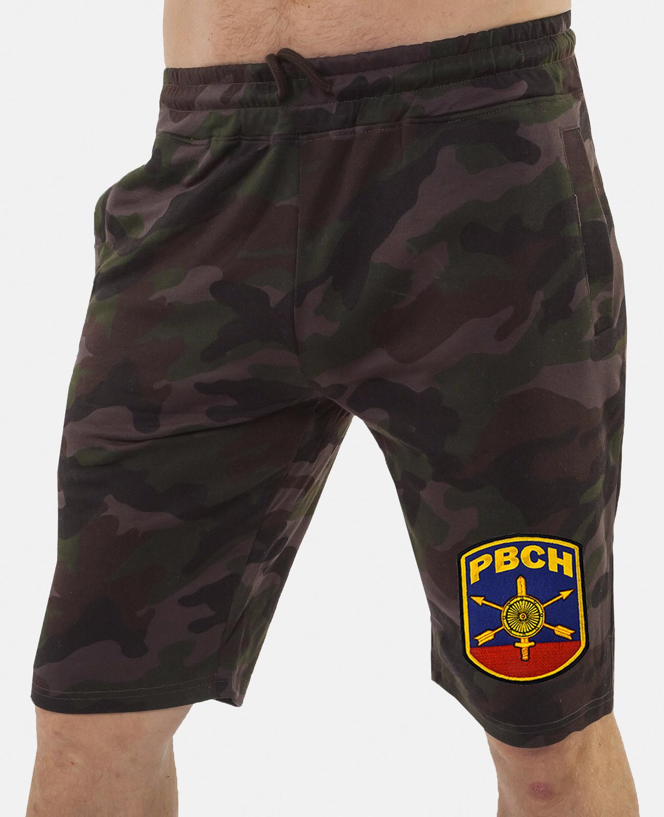 Купить камуфляжные мужские шорты с нашивкой РВСН в подарок мужчине