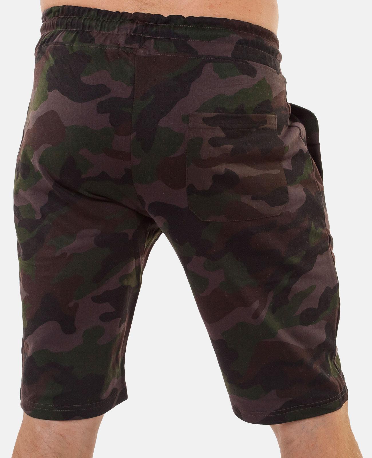 Камуфляжные мужские шорты с нашивкой РВСН - купить выгодно