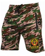 Камуфляжные мужские шорты с нашивкой СССР
