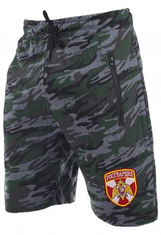 Камуфляжные особые шорты с карманами и нашивкой Росгвардия