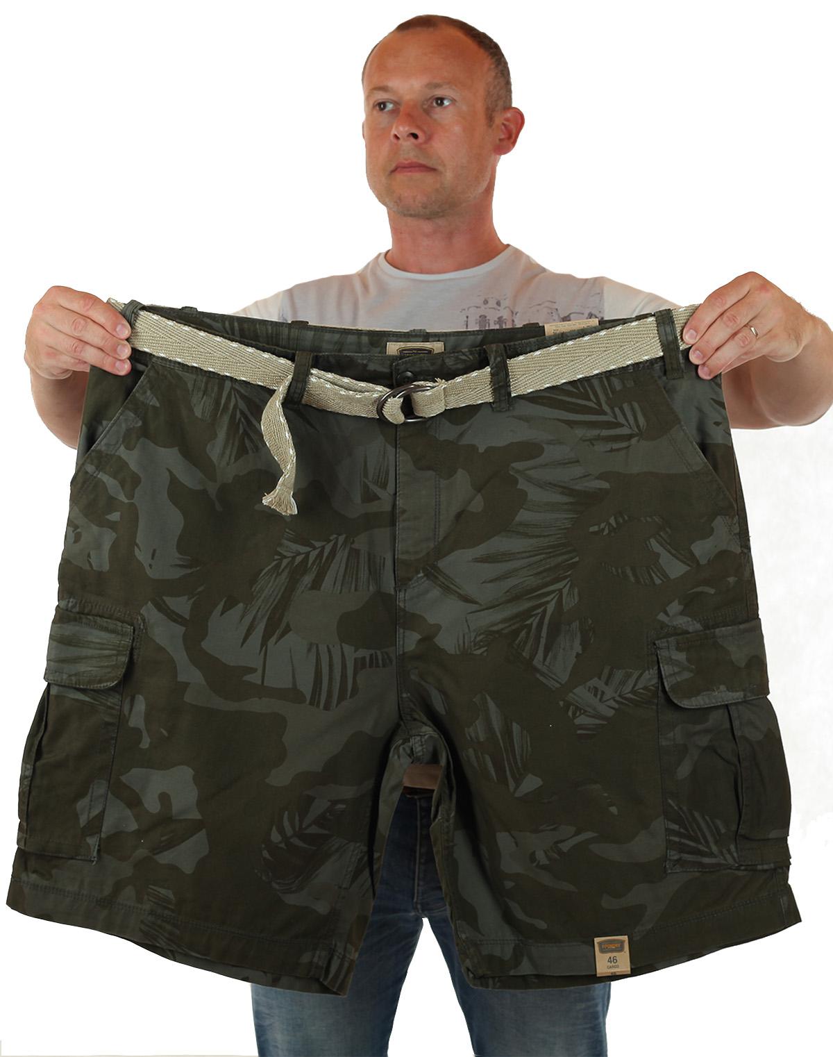 Купить камуфляжные шорты большого размера