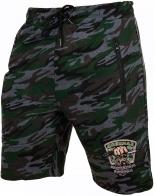 Камуфляжные шорты для мужчин с шевроном Охотничьих войск