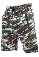Камуфляжные шорты с вышитым шевроном для рыбаков