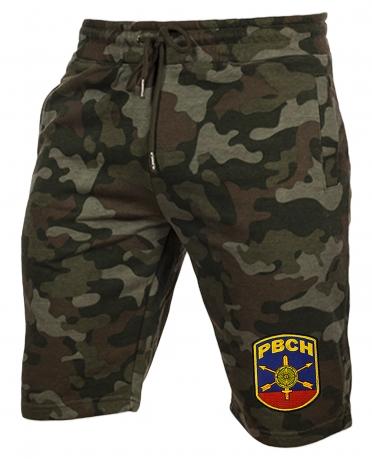 Камуфляжные шорты свободного кроя с нашивкой РВСН