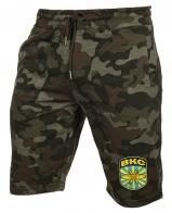 Камуфляжные шорты  свободного кроя с нашивкой ВКС