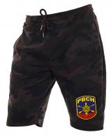Камуфляжные шорты удлиненного кроя с нашивкой РВСН