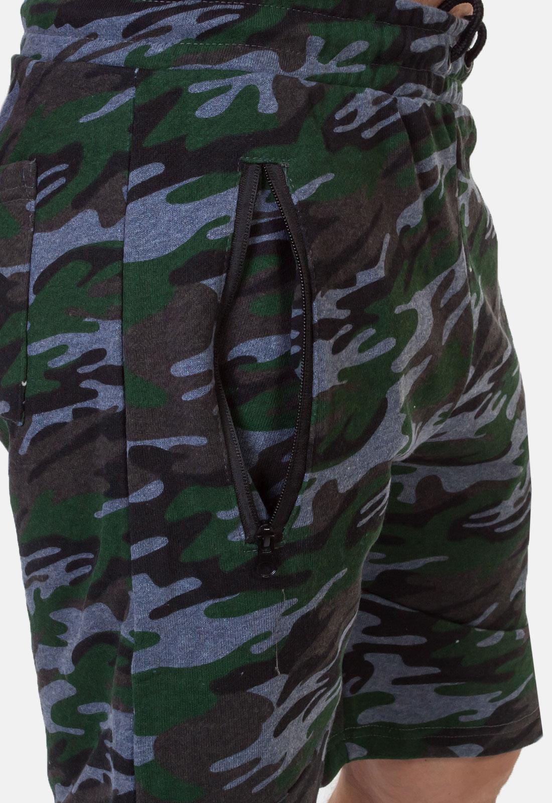 Камуфляжные свободные шорты с нашивкой Росгвардия - купить выгодно