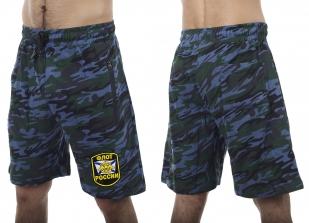 Камуфляжные темно-синие шорты с нашивкой Флот России - купить с доставкой