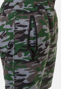 Камуфляжные военные шорты с нашивкой Флот России -заказать в подарок