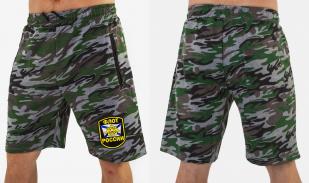 Камуфляжные военные шорты с нашивкой Флот России - заказать в розницу