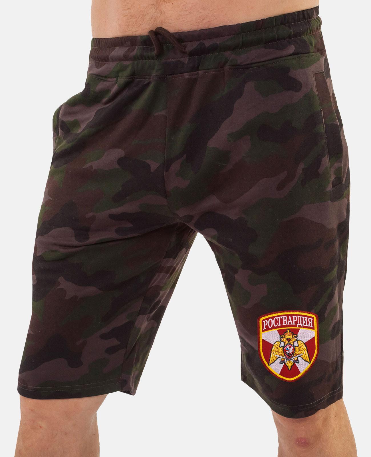Купить камуфляжные военные шорты с нашивкой Росгвардия по экономичной цене