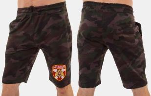 Камуфляжные военные шорты с нашивкой Росгвардия - купить с доставкой