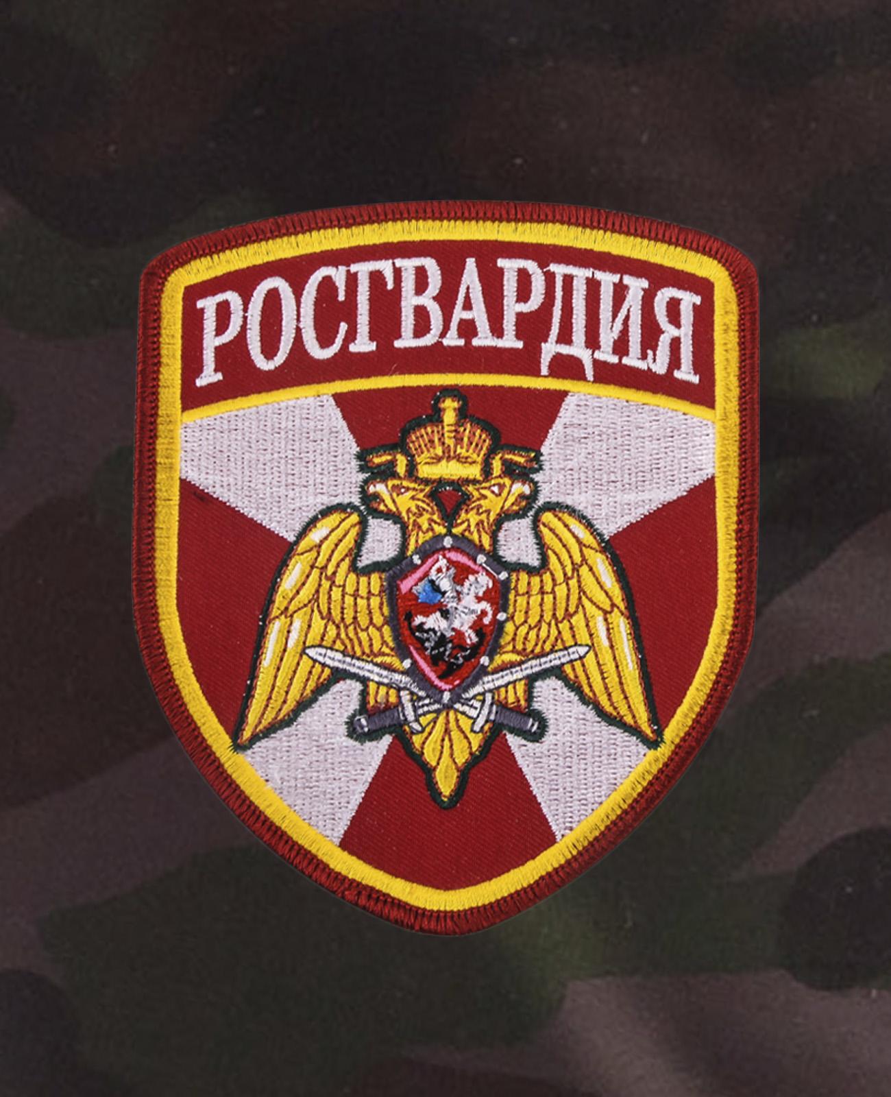 Камуфляжные военные шорты с нашивкой Росгвардия