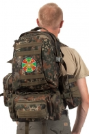 Камуфляжный армейский ранец-рюкзак с нашивкой Погранвойска