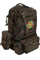 Камуфляжный армейский ранец-рюкзак с нашивкой Погранвойска - купить в Военпро