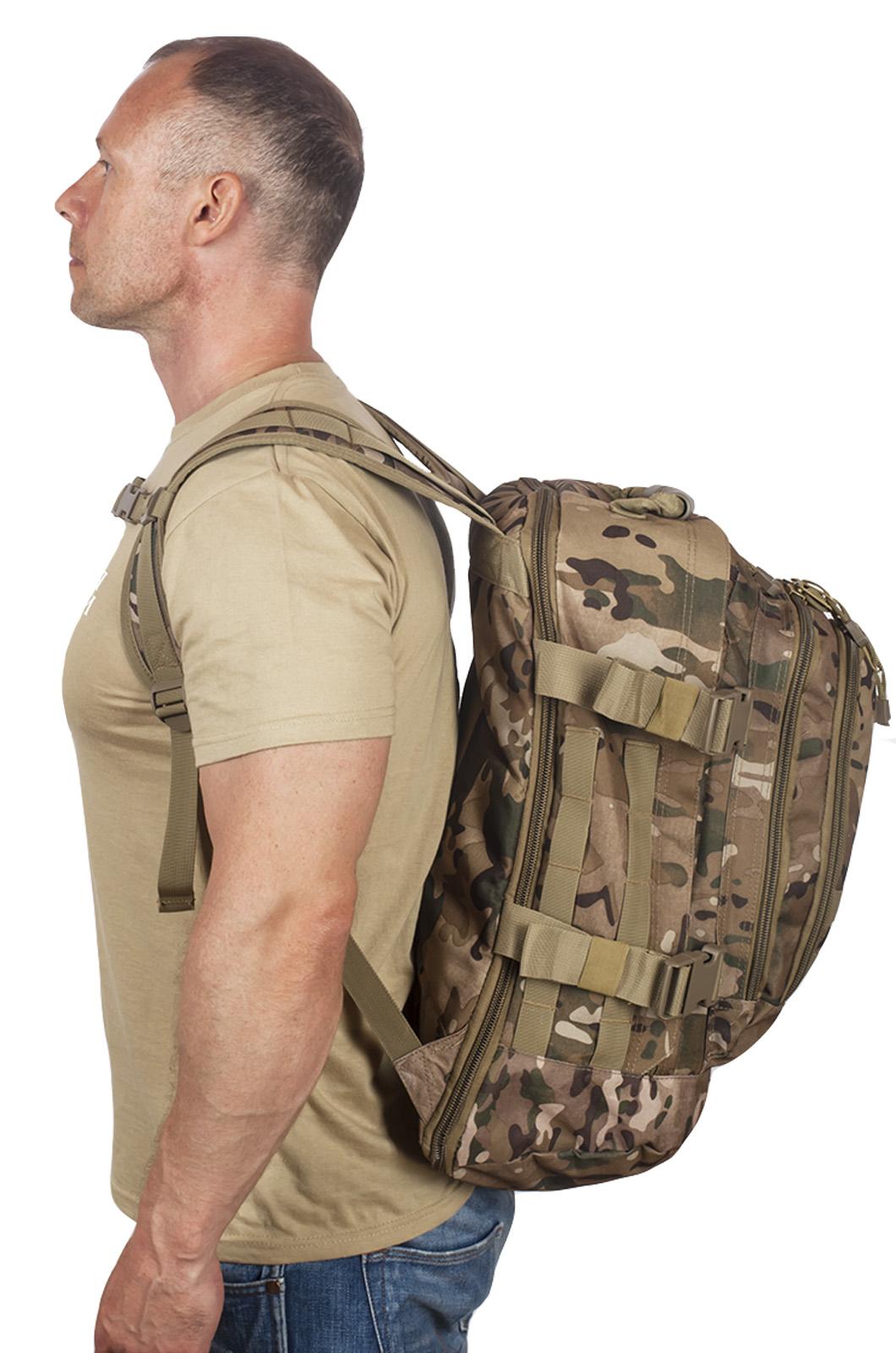 Камуфляжный армейский рюкзак с нашивкой ВМФ - купить оптом