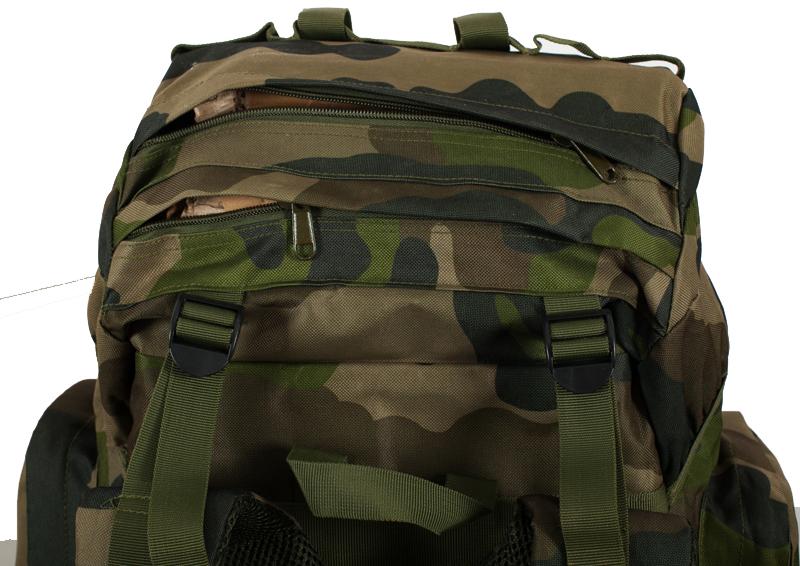 Камуфляжный большой рюкзак с нашивкой Русская Охота - заказать онлайн
