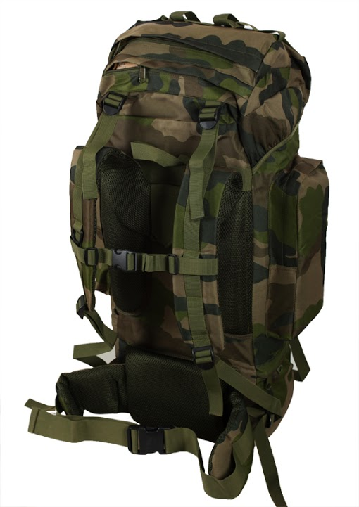 Камуфляжный большой рюкзак с нашивкой Русская Охота - заказать в розницу