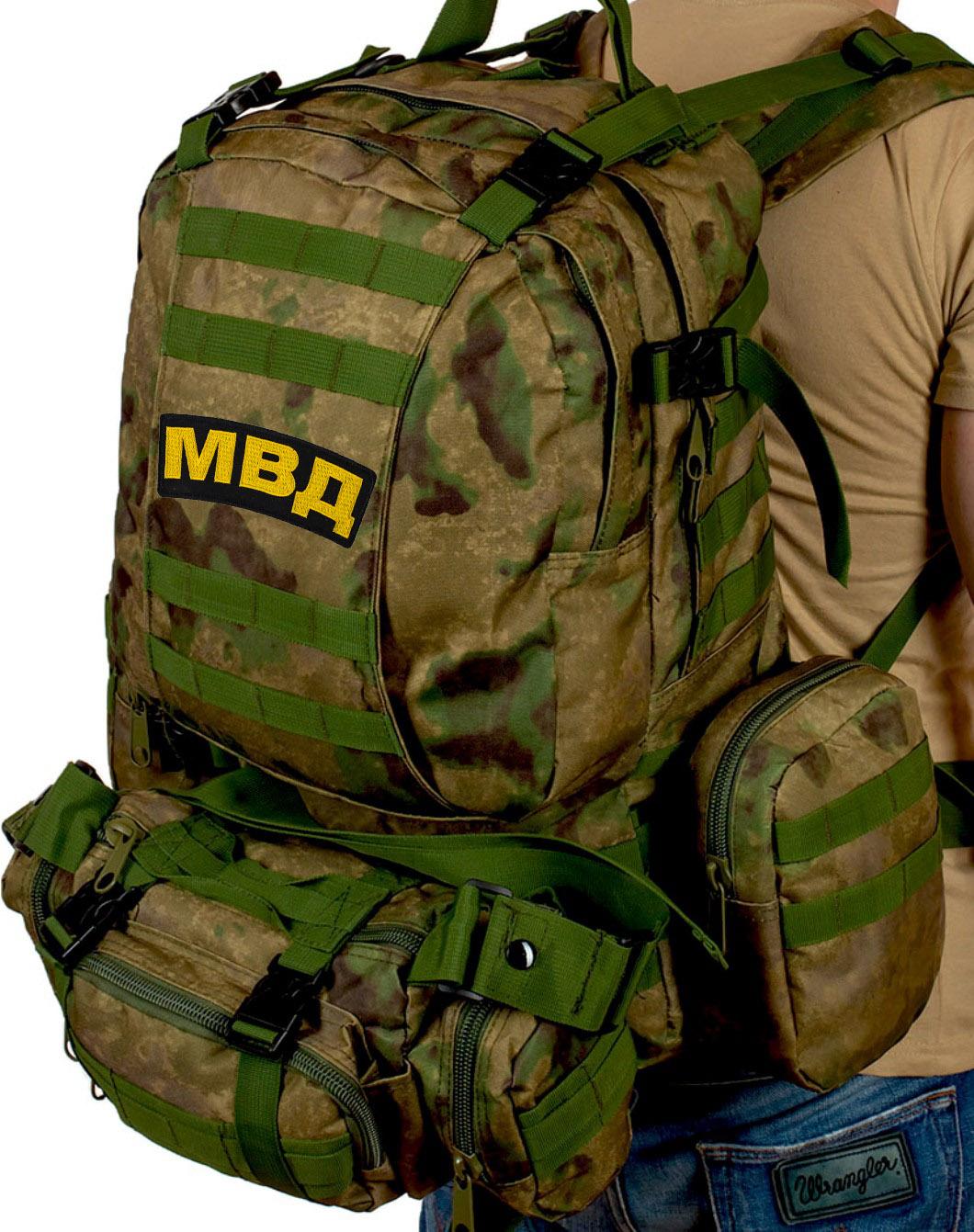 Камуфляжный большой рюкзак-трансформер МВД - заказать оптом