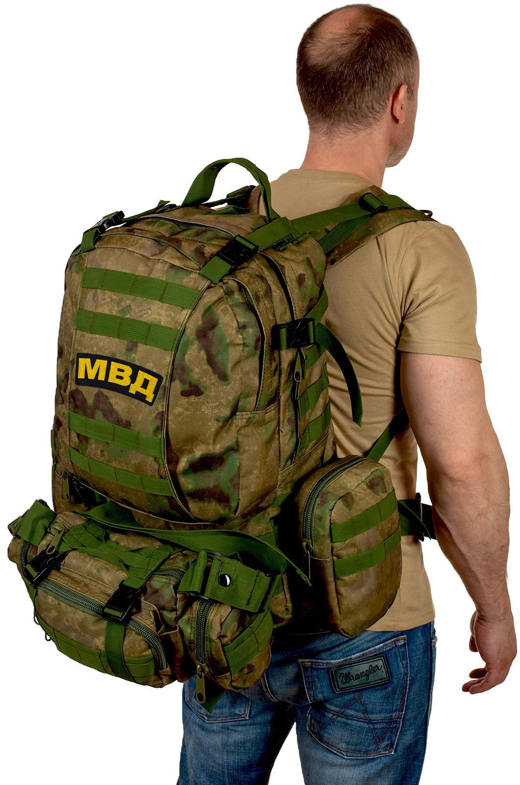 Камуфляжный большой рюкзак-трансформер МВД - заказать с доставкой