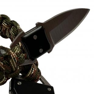 Камуфляжный браслет выживания с ножом скрытого ношения