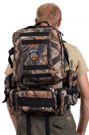 Камуфляжный крутой милитари-рюкзак с нашивкой ДПС