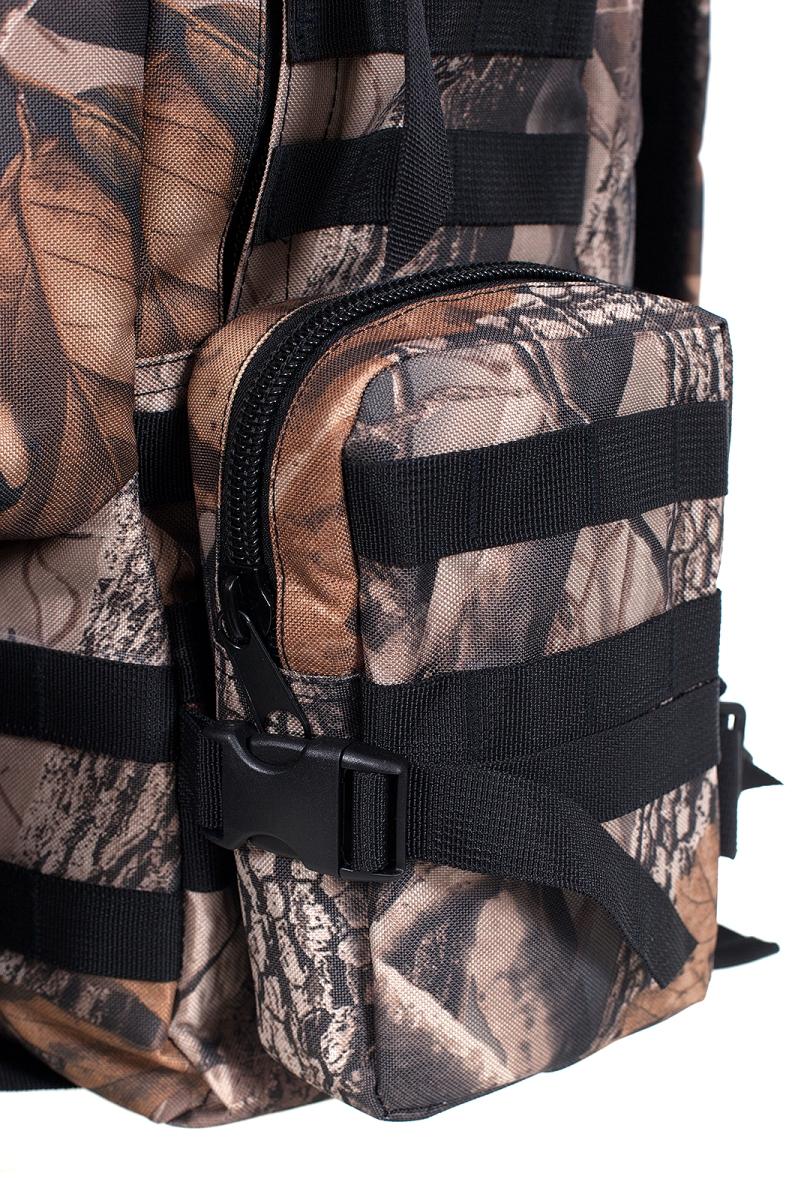 Камуфляжный крутой милитари-рюкзак с нашивкой Герб России - заказать с доставкой