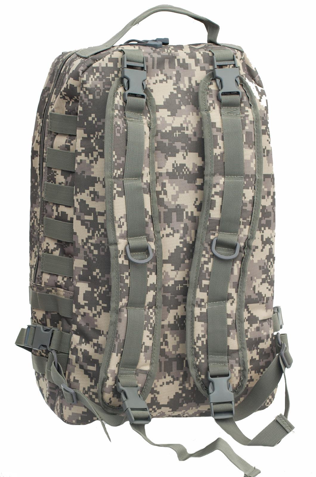 Камуфляжный крутой рюкзак с нашивкой Русская Охота - заказать с доставкой