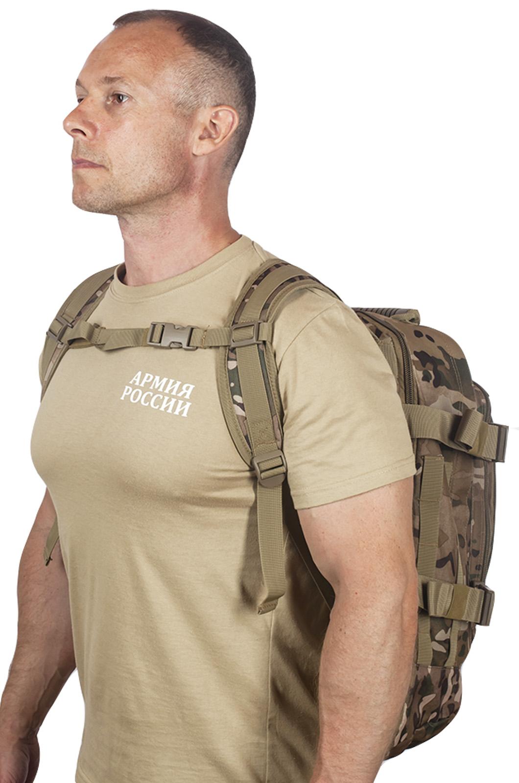 Камуфляжный надежный рюкзак с нашивкой Полиция России - купить онлайн