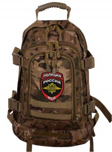 Камуфляжный надежный рюкзак с нашивкой Полиция России - купить оптом