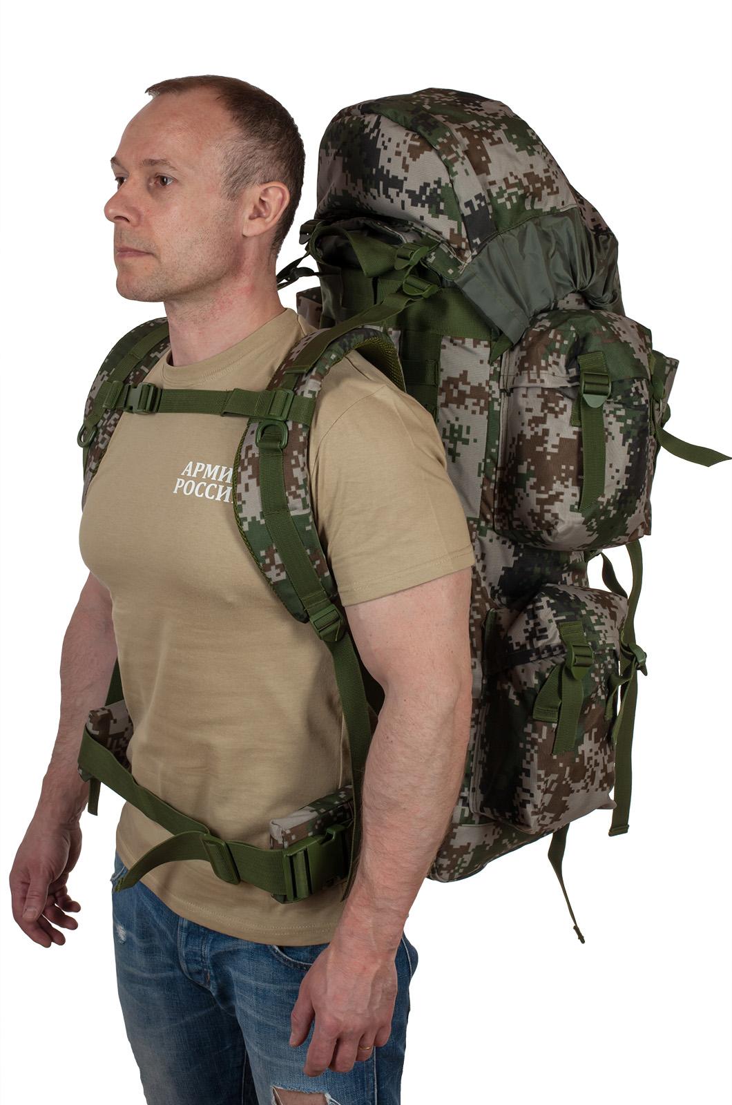 Камуфляжный надежный рюкзак с нашивкой РХБЗ - купить выгодно