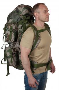 Камуфляжный надежный рюкзак с нашивкой РХБЗ - купить в подарок