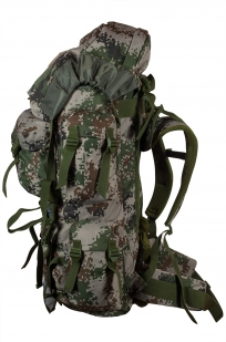 Камуфляжный надежный рюкзак с нашивкой РХБЗ - купить по низкой цене