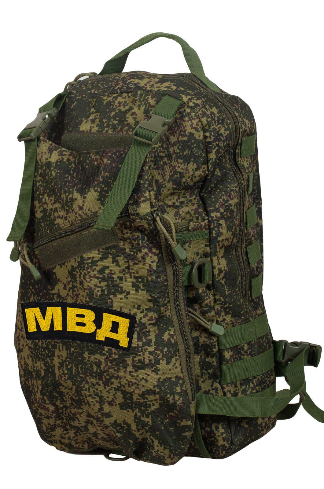 Камуфляжный однодневный рюкзак с нашивкой МВД - купить с доставкой