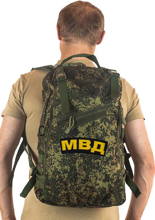 Камуфляжный однодневный рюкзак с нашивкой МВД - купить в подарок