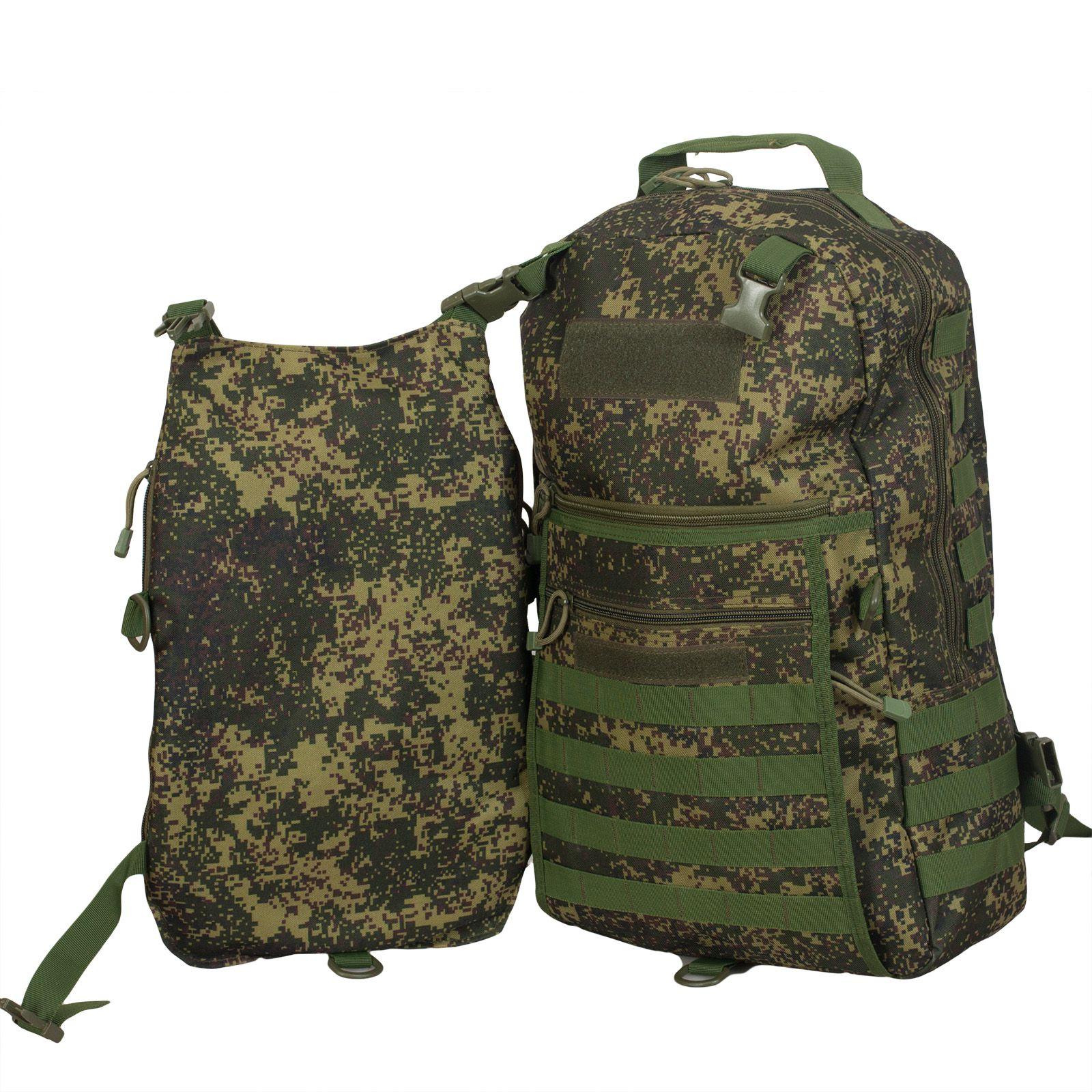Камуфляжный однодневный рюкзак с нашивкой МВД - заказать онлайн