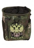 Камуфляжный подсумок для фляги с нашивкой Герб России
