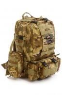 Камуфляжный практичный рюкзак с нашивкой Охотничьих войск